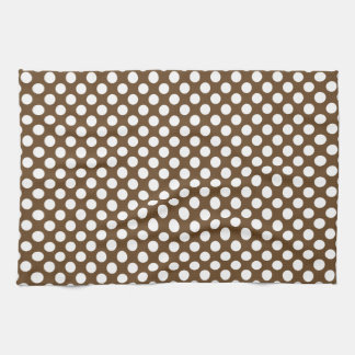 Brown and White Polka Dot Tea Towel