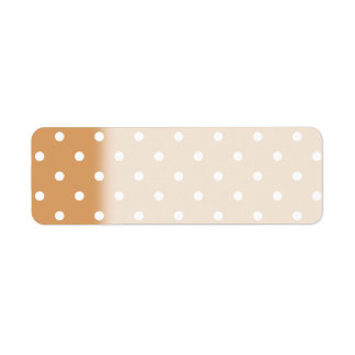Brown and White Polka Dots Pattern.