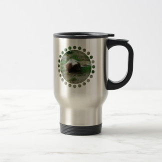 Brown and White Skunk Stainless Travel Mug