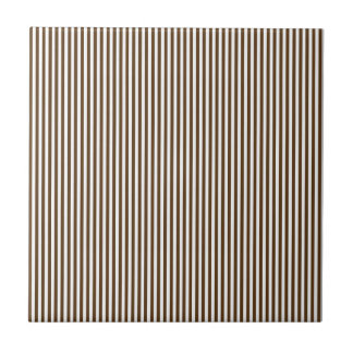 Brown and White Stripes Tile