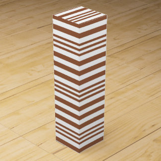 Brown and White Stripes X 3 Wine Gift Box