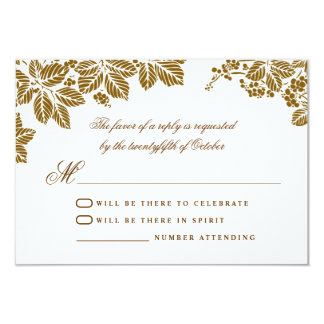 brown and white wedding rsvp cards 9 cm x 13 cm invitation card