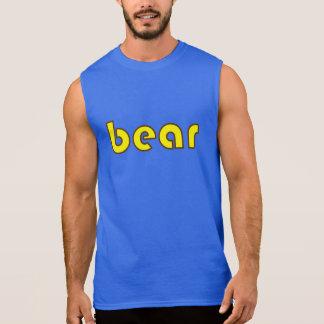 "Brown and Yellow ""bear"" Sleeveless T T Shirt"