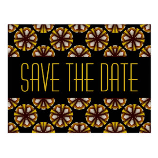 Brown and Yellow Save the Date Postcard