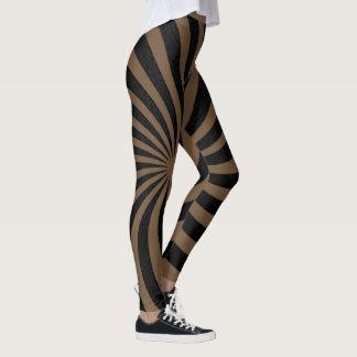 Brown ands black spiral leggings
