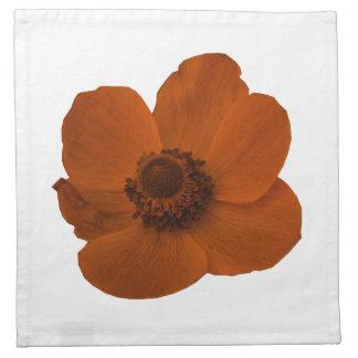 Brown Anemone Napkin