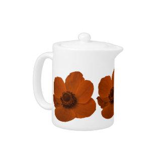 Brown Anemone Teapot