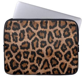 Brown animal print pattern computer sleeves