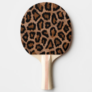 Brown animal print pattern ping pong paddle
