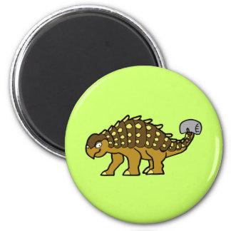 Brown Ankylosaurus Magnet