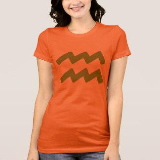 Brown Aquarius Symbol T-shirts