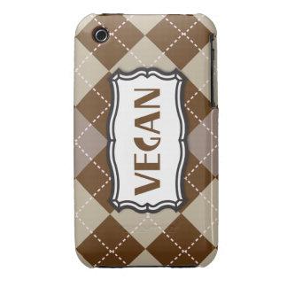 Brown Argyle Vegan Pride Case-Mate iPhone 3 Cases