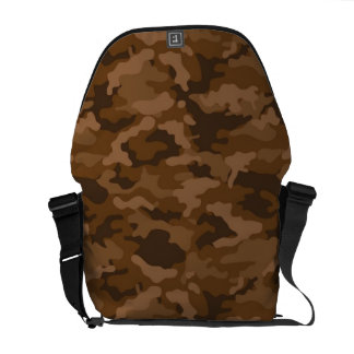 Brown Army Military Camo Camouflage Pattern Fabric Courier Bag