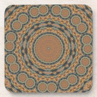 Brown Art Design Coaster