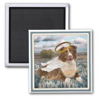 Brown Australian Shepherd Perfect Angel Gifts Refrigerator Magnet