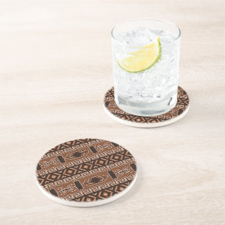 Brown Aztec Pattern Southwestern Design Beverage Coasters