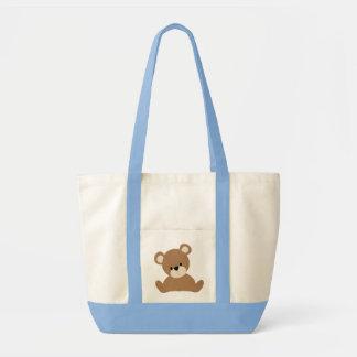 Brown Baby Bear Tote Bag