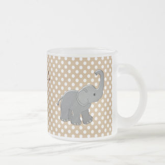 brown baby shower elephant coffee mugs