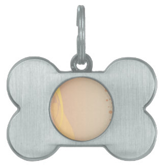 Brown Background Pet Tags
