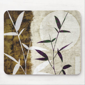 Brown Bamboo Moon Fall Leaves Mouse Mat