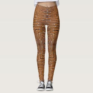 Brown Bamboo Square Leggings