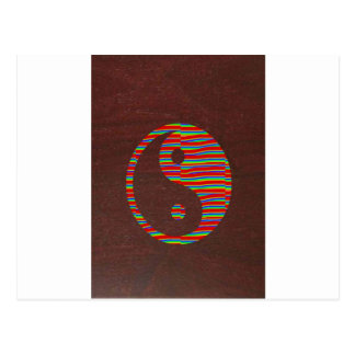 Brown base SYMBOLs Flowers Globe YinYang lowprices Post Cards