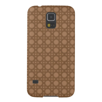 Brown Basket Weave Galaxy S5 Cases