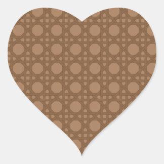 Brown Basket Weave Stickers