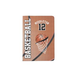 Brown Basketball Design | Personalize Passport Holder