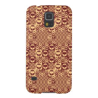 Brown Bat Symbol Pattern Galaxy S5 Cases