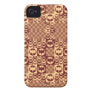 Brown Bat Symbol Pattern iPhone 4 Cover