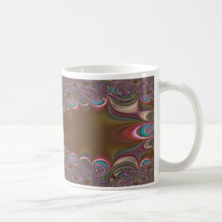 Brown Bead Fractal Mug
