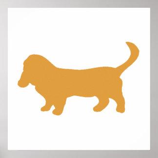 Brown Beagle Poster