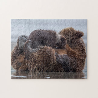 Brown bear and cubs 2 jigsaw puzzle