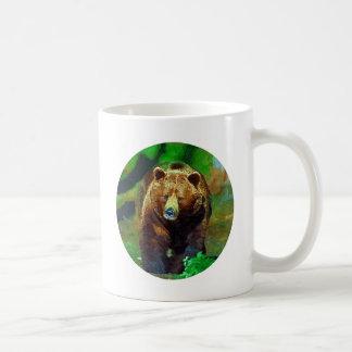 Brown bear basic white mug
