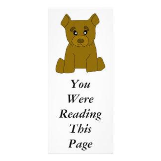 Brown Bear Bookmark Template Rack Cards