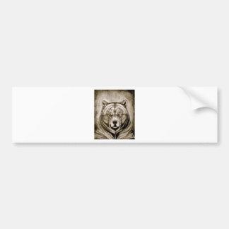 Brown Bear Bumper Sticker