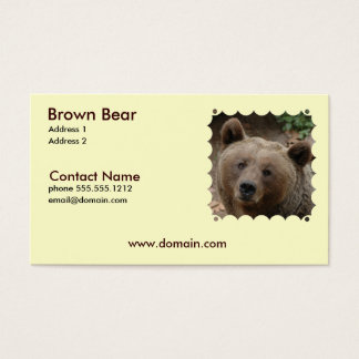 Brown Bear Business Card