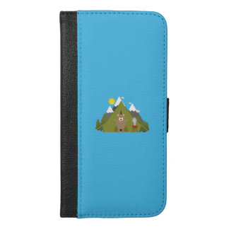 Brown Bear Camping Q1Q iPhone 6/6s Plus Wallet Case