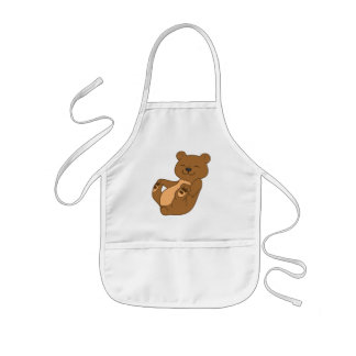 Brown Bear Cub Kids Apron