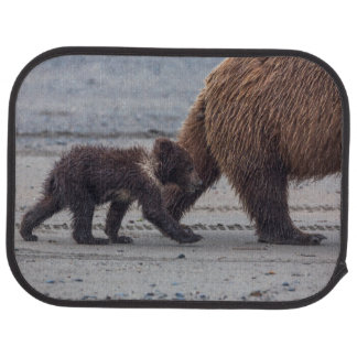 Brown Bear cub Floor Mat