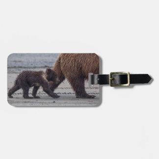Brown Bear cub Luggage Tag
