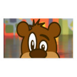 Brown Bear Face Pack Of Standard Business Cards
