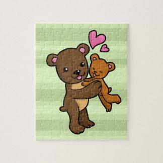 Brown bear hugging baby bear jigsaw puzzle
