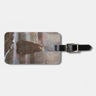 Brown Bear Luggage Tag