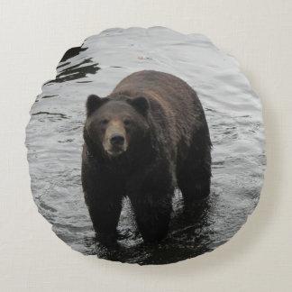 Brown Bear Round Cushion