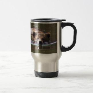 Brown Bear swimming Mug
