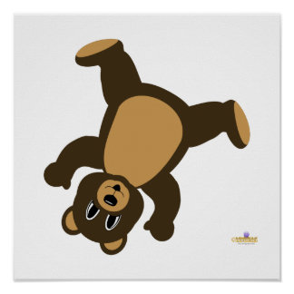 Brown Bear Turning Right Poster