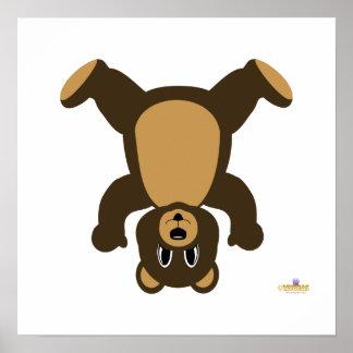 Brown Bear Upside Down Print