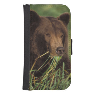 brown bear, Ursus arctos, grizzly bear, Ursus 7 Samsung S4 Wallet Case